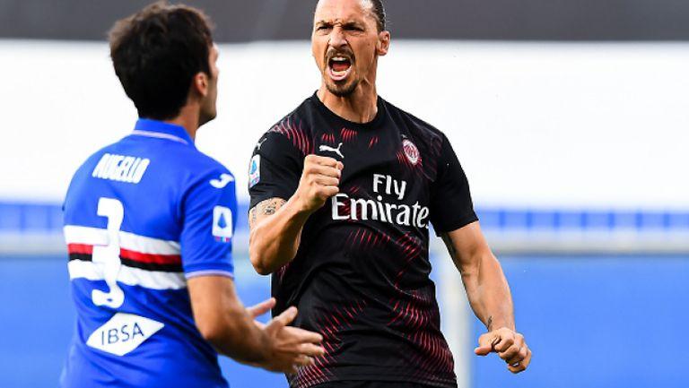 Милан вкара 4 на Сампдория и си осигури шестото място