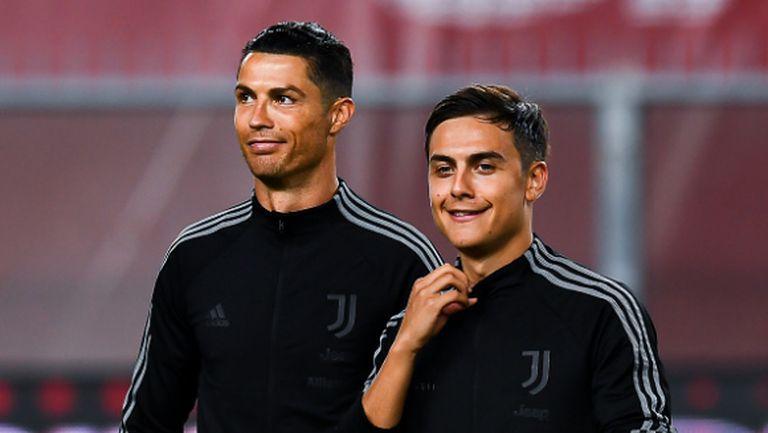 Роналдо и Дибала се разбират все по-добре, доволен е Сари