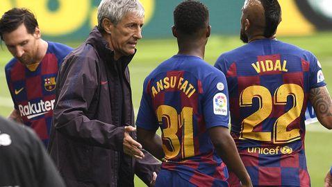 Седмица по-късно атмосферата в Барселона остава отровна