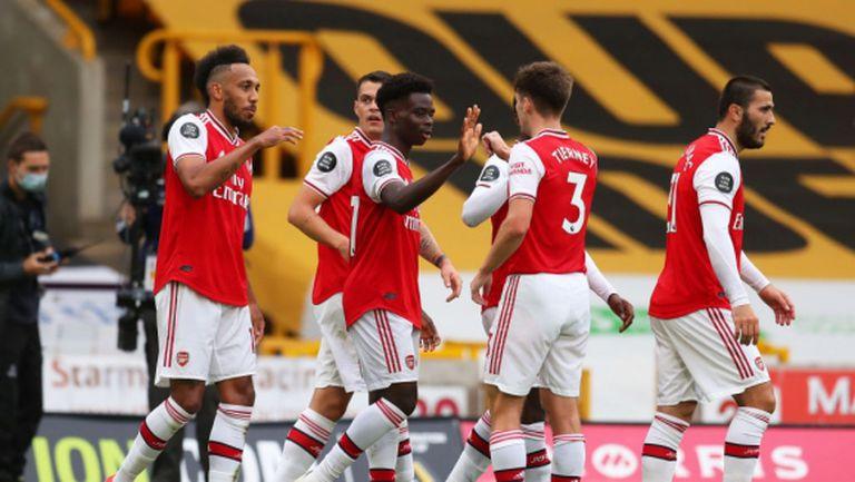 Арсенал нанесе удар по амбициите на Уулвс за топ 4 (видео)