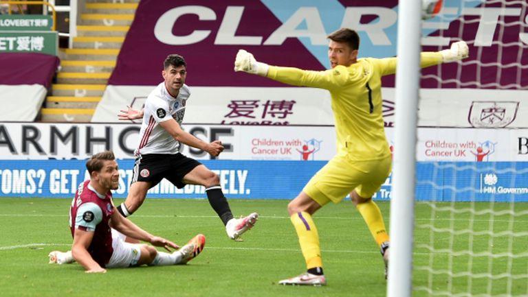 Бърнли и Шефилд Юнайтед си разделиха точките