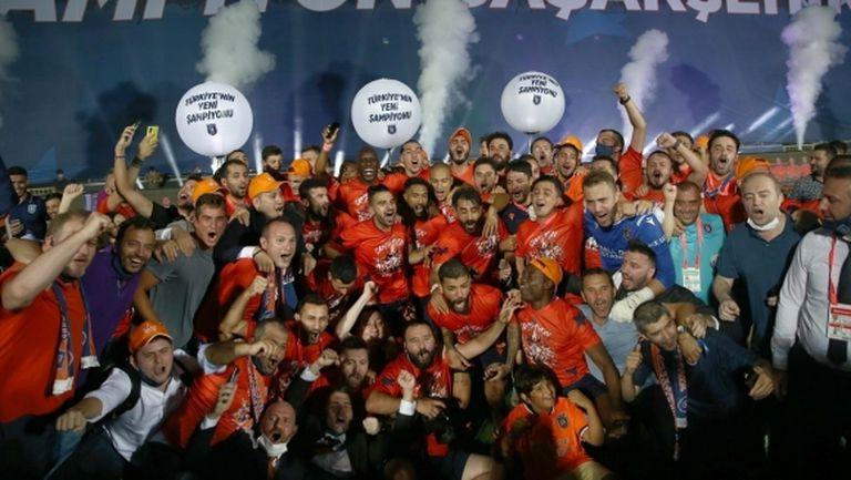 Историческо: Истанбул Башакшехир спечели за първи път титлата на Турция (видео)