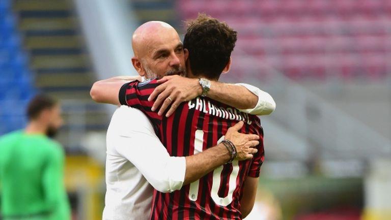 Чалханоглу смята, че Милан има късмет с Пиоли