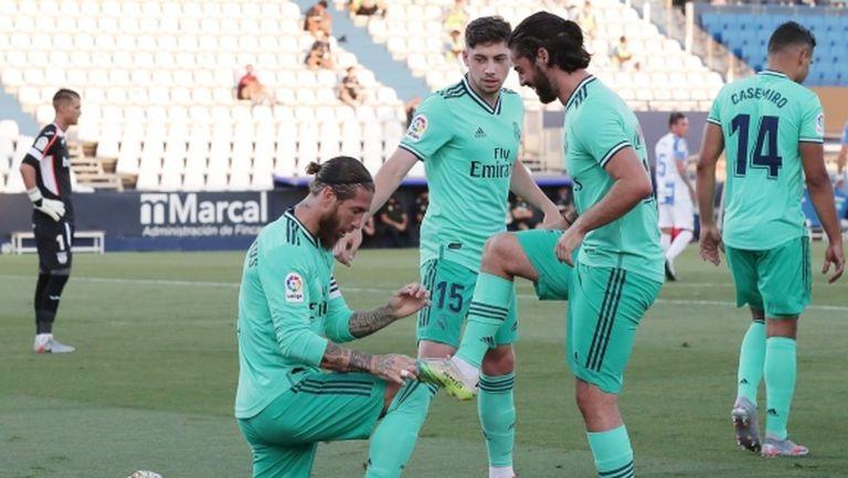 Реал Мадрид прекъсна серията си за финал, Леганес се размина с чудото (видео + галерия)