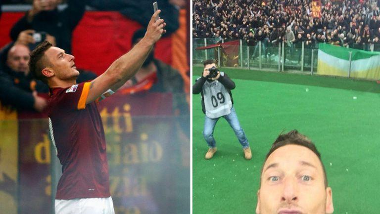 Като в доброто старо време! Тоти опъна мрежата на Лацио и стана шампион (видео)