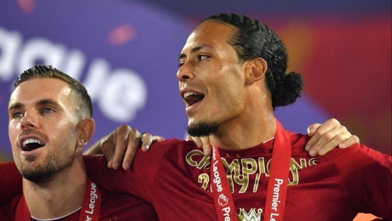 Ван Дайк: Ливърпул имаше страхотен сезон, заслужено станахме шампиони