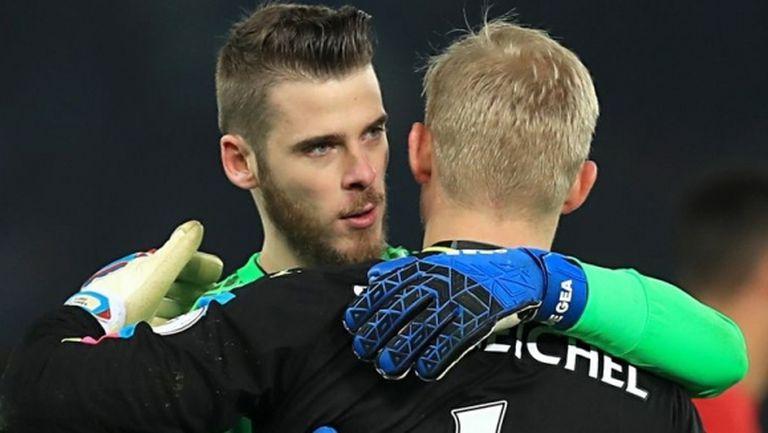 Каспер Шмайхел защити Де Хеа преди големия сблъсък между Лестър и Ман Юнайтед