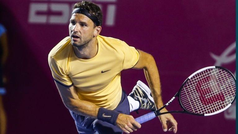 Григор Димитров се завърна на корта, но отстъпи на Гаске в странен тенис формат