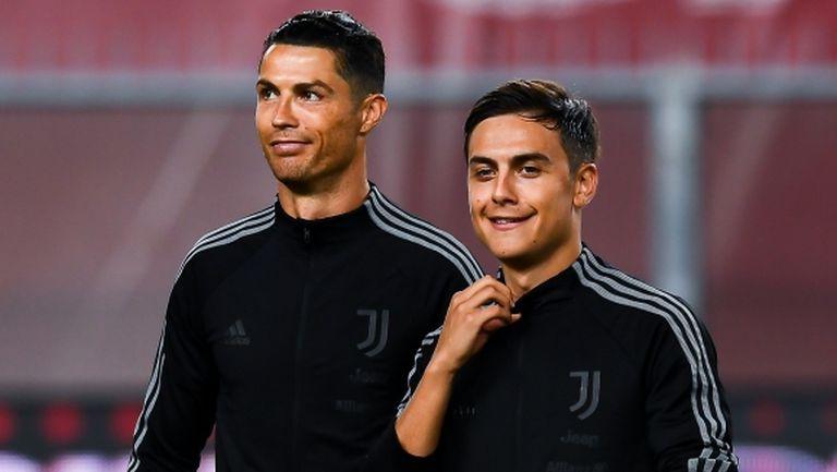 В Юве се надяват Дибала да е готов за Лион, Роналдо получава почивка