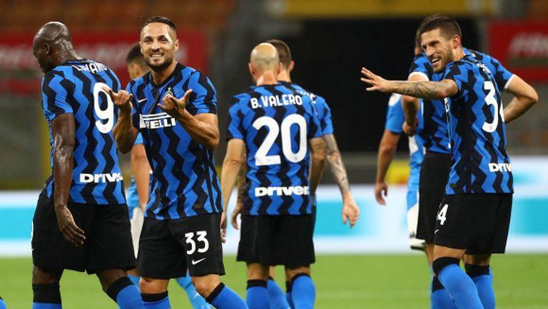 Интер взе малък реванш срещу Наполи (видео)