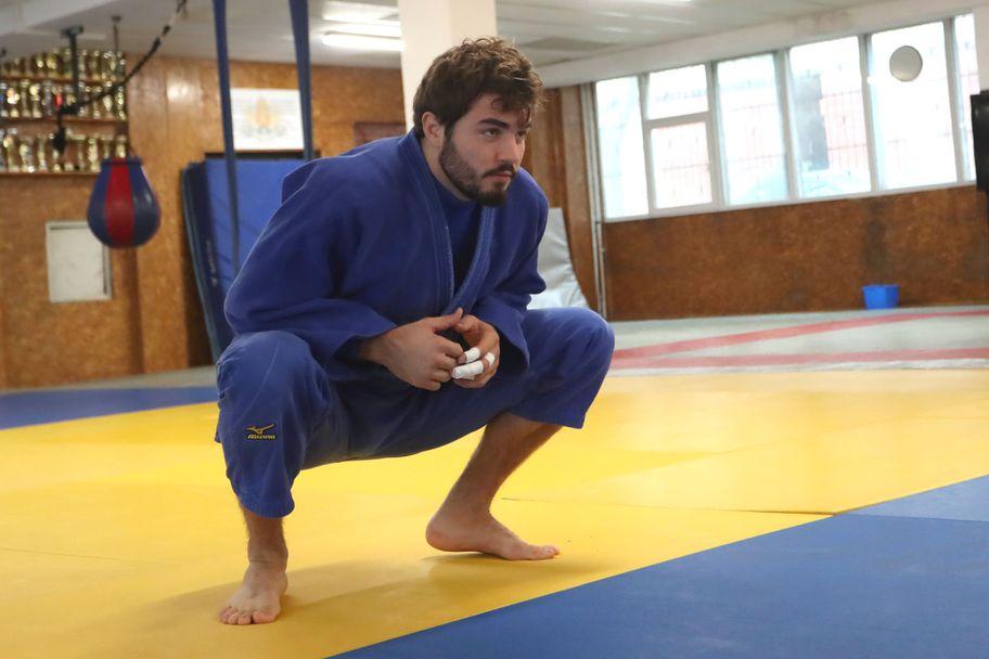 Тренировка на националите по джудо преди Европейското