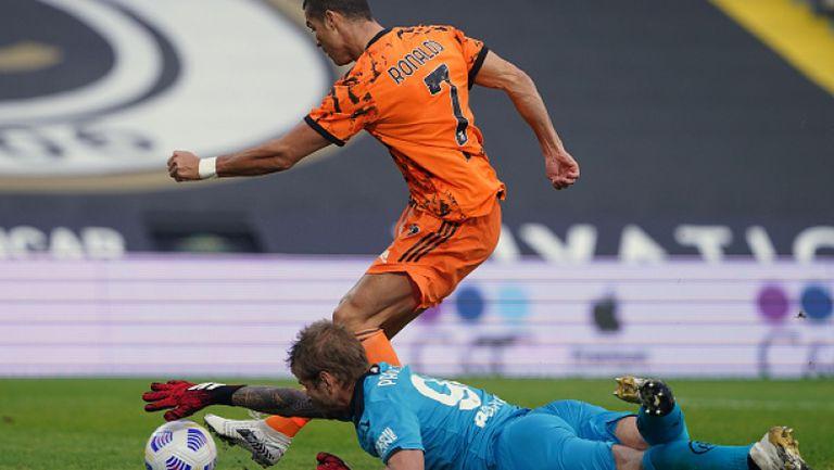 Два гола на Роналдо от пейката вдъхновиха Ювентус за победа над Специя