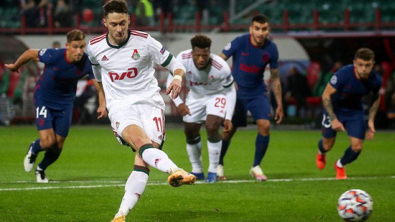 Локомотив (Москва) не се даде на Атлетико (Мадрид) и измъкна 1:1