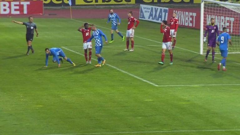 Николай Минков върна едно попадение за Монтана срещу ЦСКА-София
