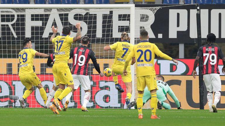 Златан спаси Милан с късен гол за 2:2 срещу Верона