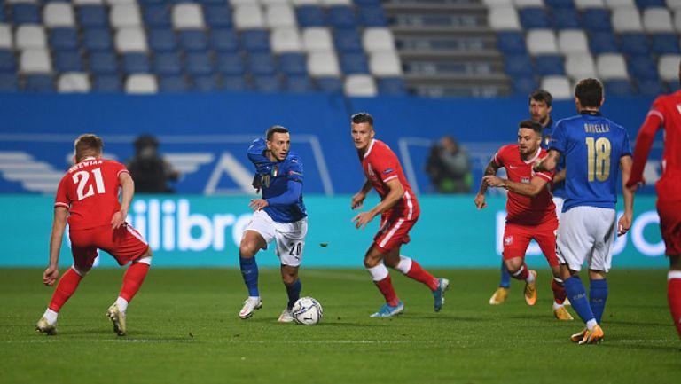 Жоржиньо откри от дузпа за Италия срещу Полша