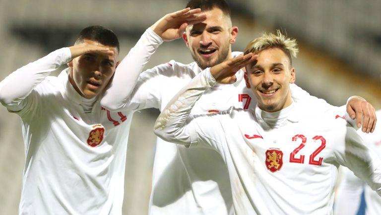 Калоян Кръстев направи българската преднина класическа в края на мача с Естония