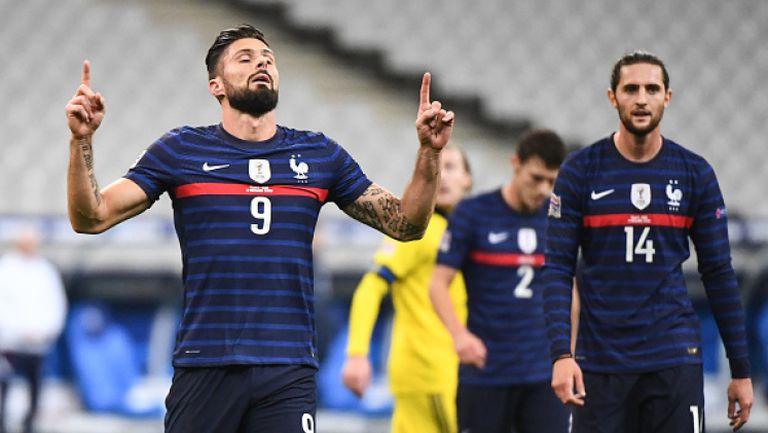 Франция би Швеция с 4:2 с два гола на Жиру