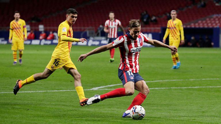 Атлетико удари Барса след груба грешка на Тер Стеген, Атлетико Мадрид - Барселона 1:0