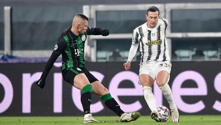 Ювентус изтръгна успех с 2:1 срещу Ференцварош с гол в края