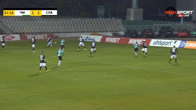 Стефан Велев направи резултата 2:1 в полза на Черно море срещу Славия