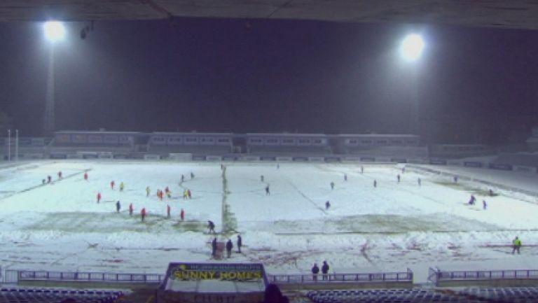 Сняг провали мача Етър - Царско село