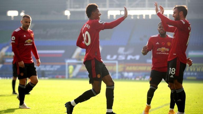 Ман Юнайтед се върна на пътя на победите (видео)