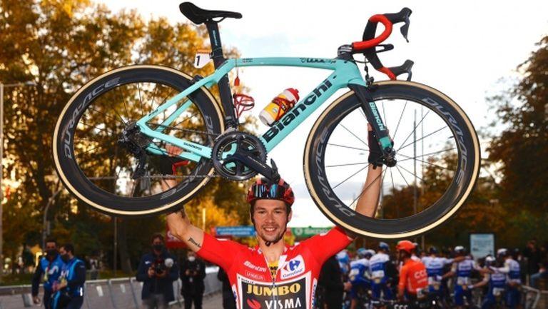 Примож Роглич финишира триумфално в Мадрид