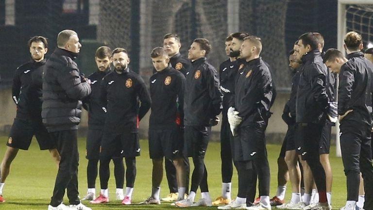 """""""Лъвовете"""" тренират преди утрешния мач с Гибралтар (видео+галерия)"""