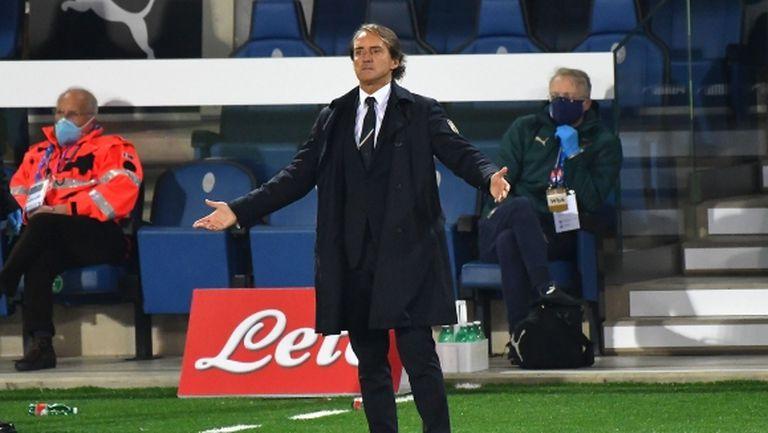 Шансовете Манчини да води Италия срещу Полша намаляват