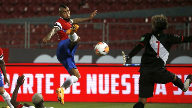 Дубъл на Видал донесе успех на Чили над Перу