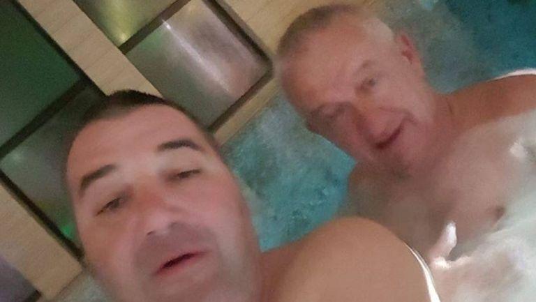 Цоко и Крушарски заедно в басейн (снимка)
