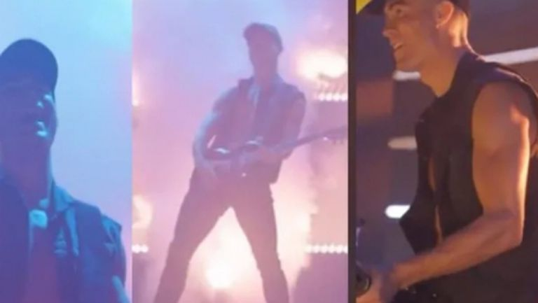 Кристиано Роналдо влезе в ролята на рокзвезда (видео)