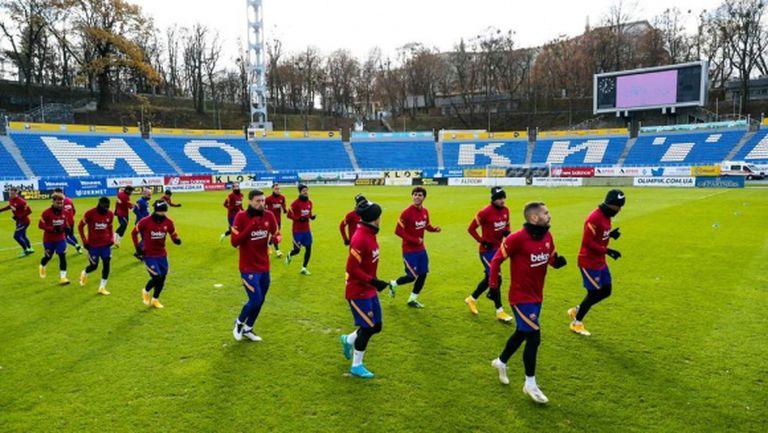Барселона направи сутрешна тренировка в Киев