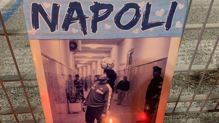 Хиляди ще почетат Марадона със запалени свещи по терасите в Неапол (снимки + видео)
