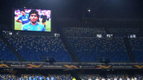 Наполи почете Марадона с успех в Лига Европа (видео + галерия)