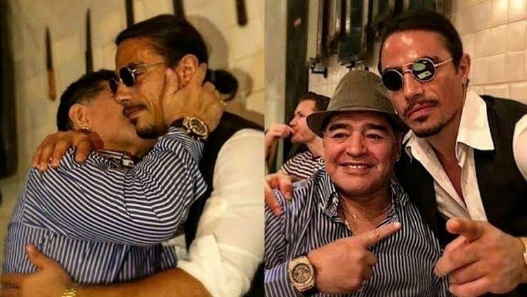 Бея на солта запази завинаги маса за Марадона (снимки + видео)