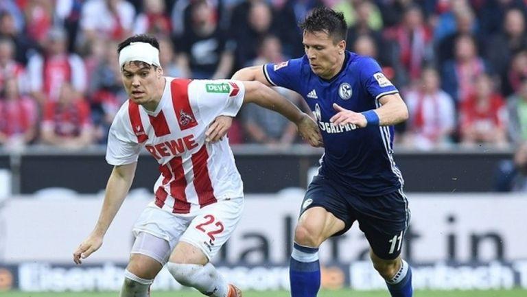 Шалке и Кьолн не си помогнаха в мач с 4 гола (видео)