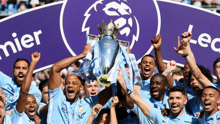 Манчестър Сити вдигна шампионския трофей (видео + галерия)