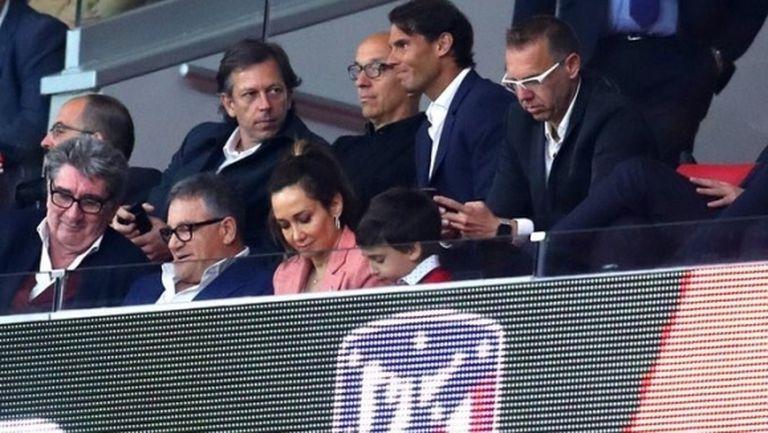 Надал обясни защо е гледал на живо Атлетико (Мадрид)