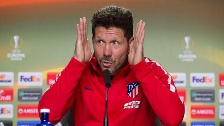 Диего Симеоне няма да води Атлетико на финала в Лига Европа