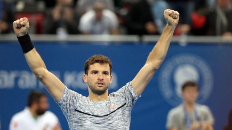 Безпощаден Григор ликува след победата над Басилашвили