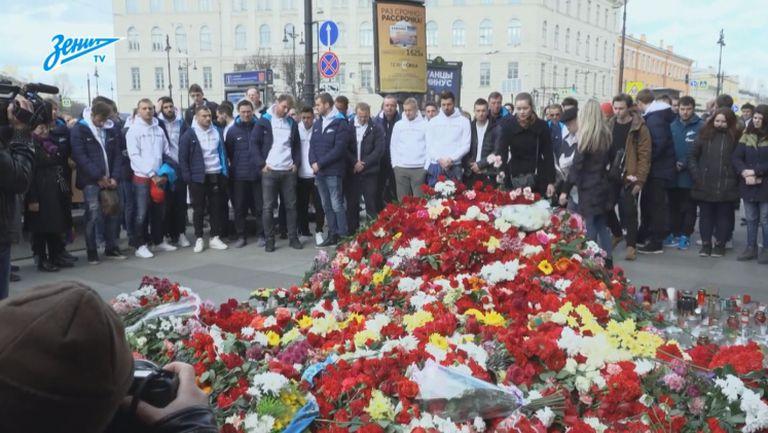Футболистите на Зенит показаха съпричасност към жертвите на терористичния атентант