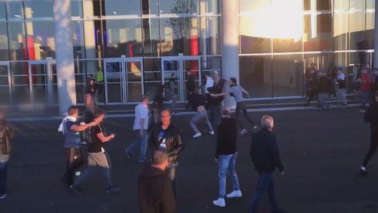 Мелета пред стадиона преди Лион - Бешикташ