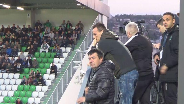 Данчо Минев стиска палци на шампионите от трибуните