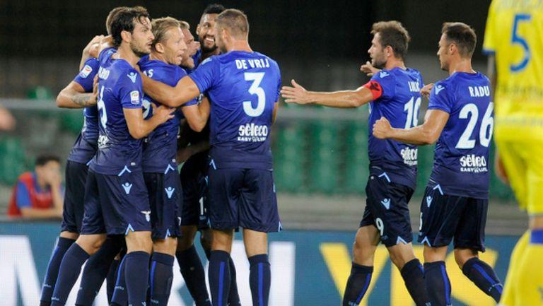 Късен гол и първа победа за Лацио