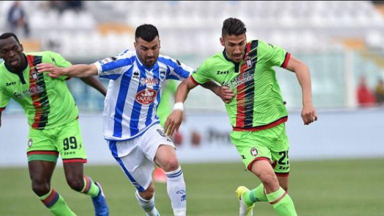 Сашо Тонев с великолепен победен гол за Пескара срещу Кротоне
