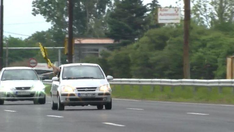 Полицейски ескорт за феновете на Ботев към София