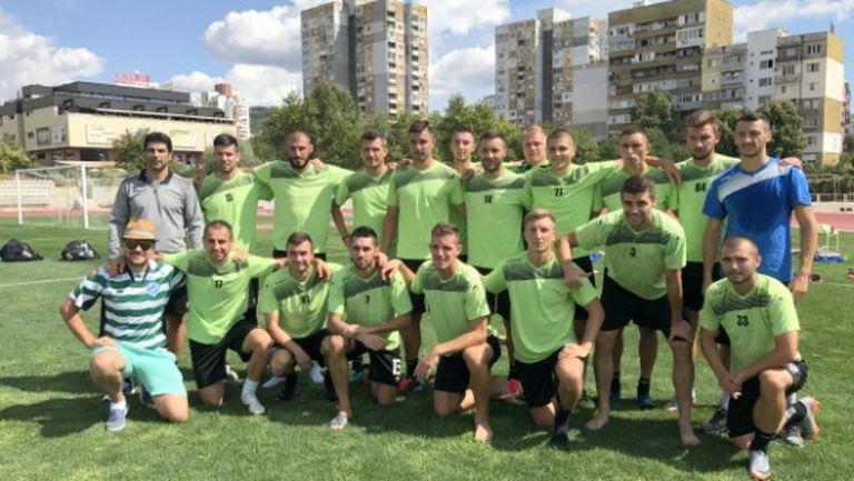 Националите от Черно море се готвят с отбора за мача с Берое