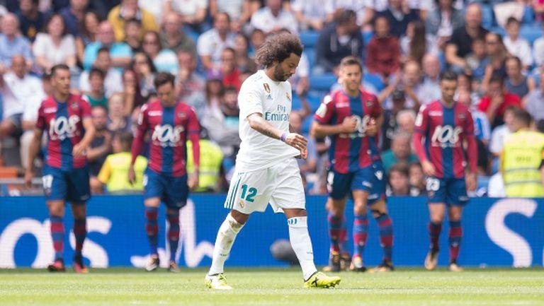 Реал Мадрид не прилича на себе си - нова издънка плюс червен картон (видео)